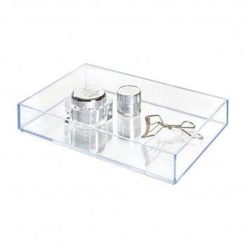 Organiseur de tiroir plastique transparent 8x12cm clarity