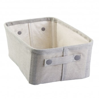Panier de rangement rectangle 22x34cm papier tressé gris wren