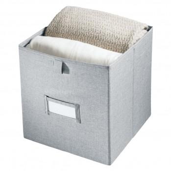 Cube de rangement polyester gris 32x27cm codi