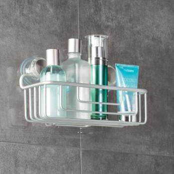 Panier de douche à ventouse turn-n-lock aluminium metro