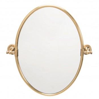 Miroir ovale pivotant en laiton