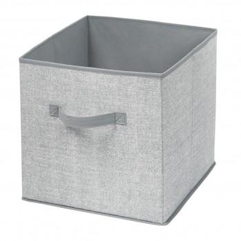 Cube de rangement pliable en intissé gris
