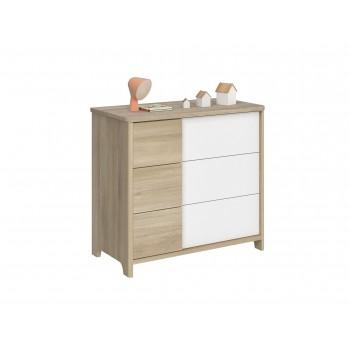 Commode 3 tiroirs Sacha Chêne du bocage - Fabrication Française