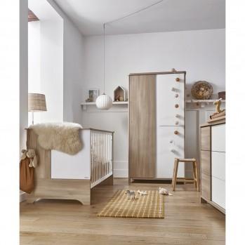 Armoire 3 portes Chêne du bocage Sacha - Fabrication Française