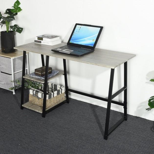 Bureau d'ordinateur avec 2 étages de rangement