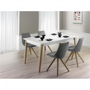 Table à manger style scandinave extensible 160-250cm - 10pers