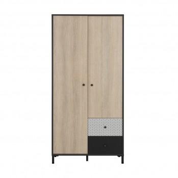 Armoire 2 portes 2 tiroirs Jakarta - Fabrication Française