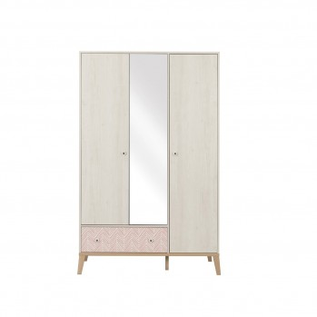 Armoire 3 portes 1 tiroir Alika - Fabrication Française
