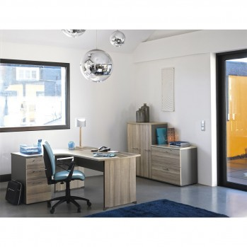 Bureau compact 90° droite Jazz - Fabrication Française