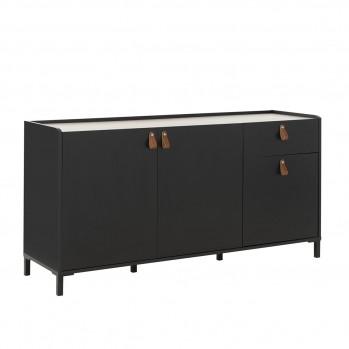 Buffet 3 portes et 1 tiroir, style industriel Amsterdam - Fabrication Française