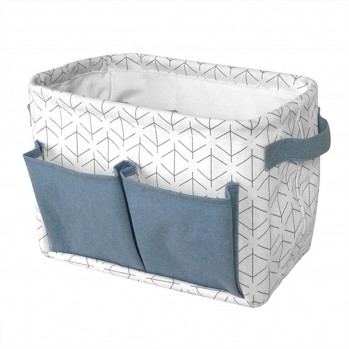 Panier multi-compartiments blanc bleu