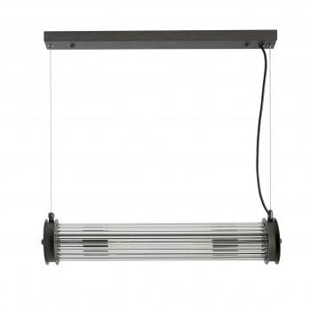 Suspension tube simple verre métal gris
