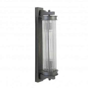 Applique tube verre métal gris