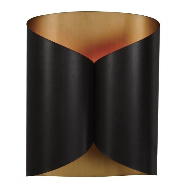 Applique métal noir Papyrus