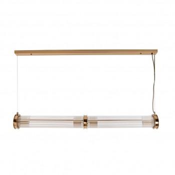 Suspension tube double verre métal laiton