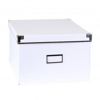 Boîte de rangement carton blanc armature métal - petit modèle