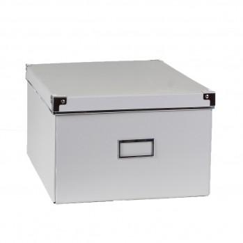 Boîte carton grise finition métal - petit modèle