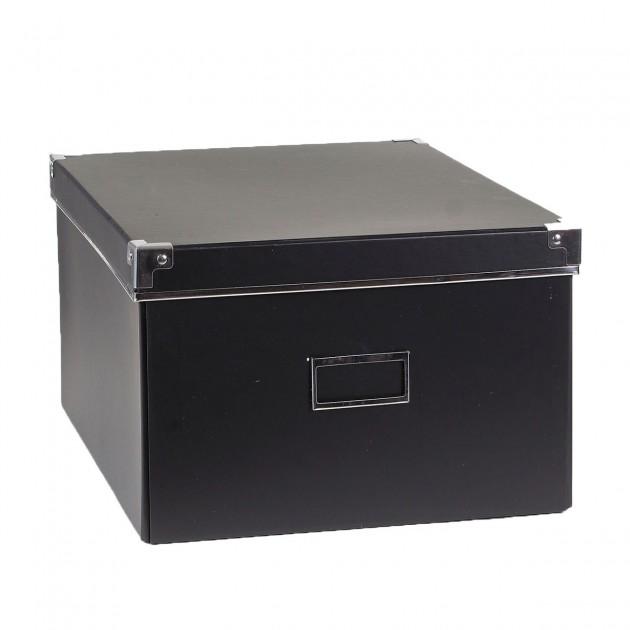 Boîte carton noir + métal - Petit modèle