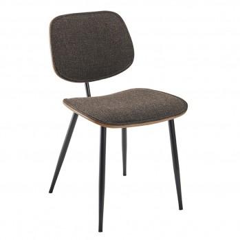 Chaises en tissu gris Olympia - Lot de 2