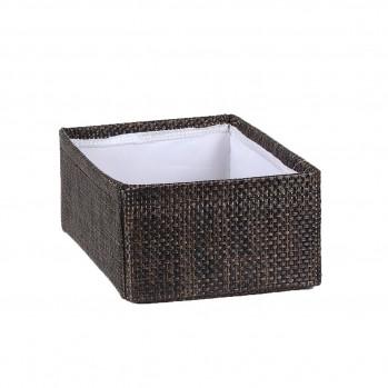 Panier tressé  polyester avec doublure tissu petit modèle
