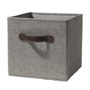 Cube en tissu gris clair pliable