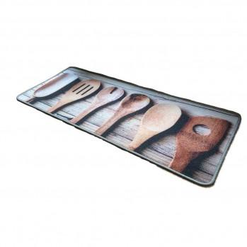 Tapis de cuisine motif Cuillères en bois