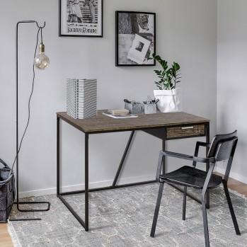 Bureau bois et pieds en métal noir Ayler