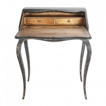 Bureau en bois 2 tiroirs Gabrielle