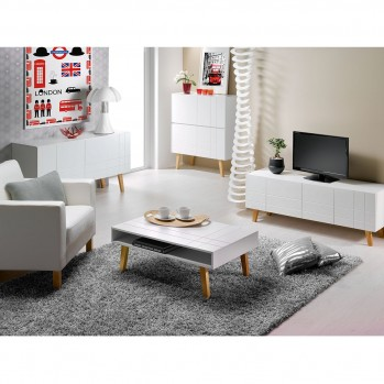 Meuble TV 4 portes scandinave London