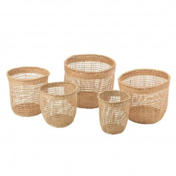 Set de 5 paniers Oasis naturel