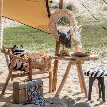 Chaise en branches de bois naturel