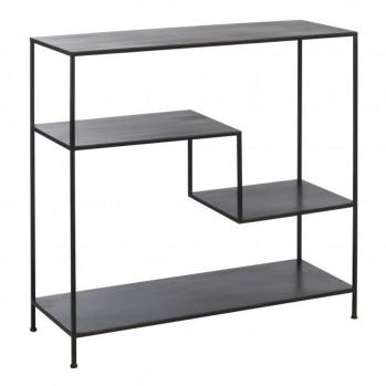 Console 3 étagères métal noir