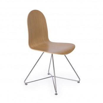 Chaise en chêne vernis mat - Fabrication Française