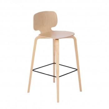 Chaise de bar en hêtre - Fabrication Française
