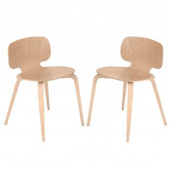 Lot de 2 chaises hêtre - fabrication française