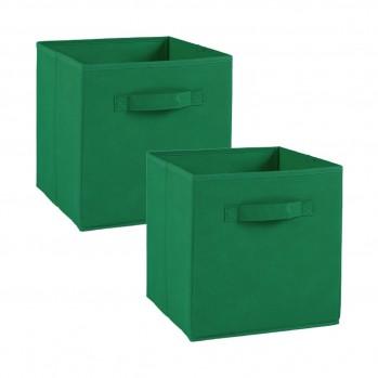 Lot de 2 cubes en intissé - 28x28x28cm