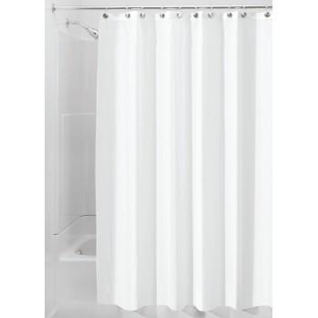 Rideau de douche polyester blanc