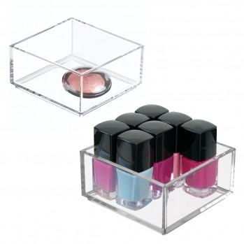 Petite boite de rangement cosmétique - lot de 2