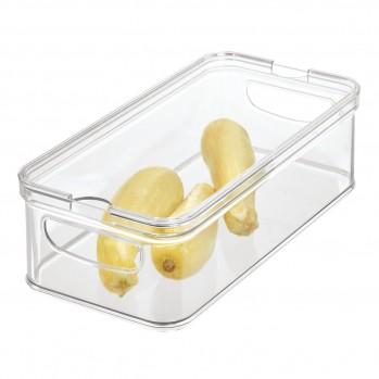 Rangement réfrigérateur en plastique avec couvercle