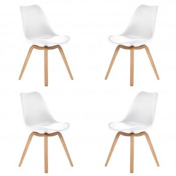Chaises design avec coussins Emy - lot de 4
