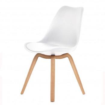Lot de 4 chaises design avec coussins Emy