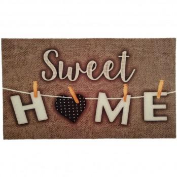 Tapis d'entrée sweet home 50x80cm