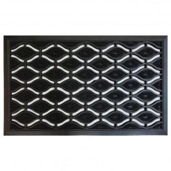 Tapis d'extérieur rectangulaire losange 45x75cm