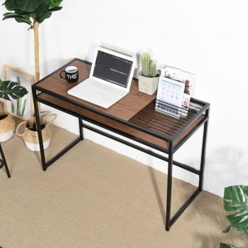 Bureau 110cm avec double plateau et porte tablette