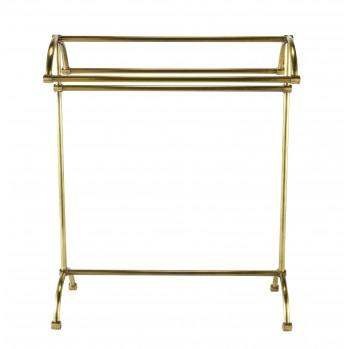 Porte serviette 4 barres en laiton doré