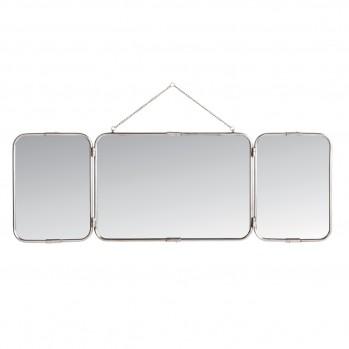 Miroir mural de barbier 3 panneaux