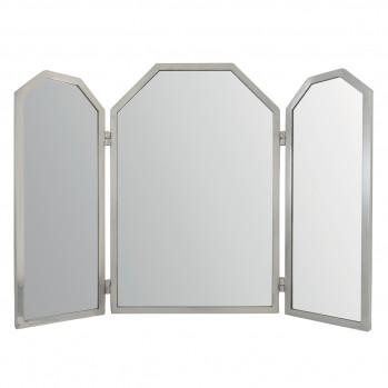 Miroir 3 panneaux en laiton