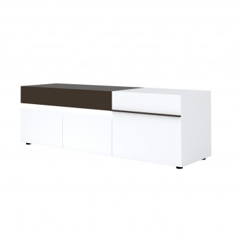 Meuble TV 180 cm 3 portes 1 tiroir Karat - Fabrication Française
