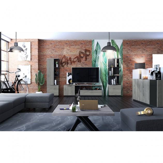 Meuble TV Hifi 1 porte 1 tiroir Snapp - Fabrication Française