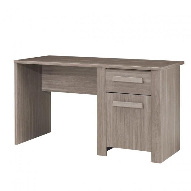 Bureau avec une porte et un tiroir couleur chêne - Fabrication Française